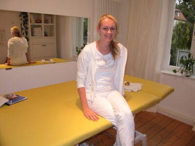 Physiotherapie-Praktikantin Nina Riekenbrauck