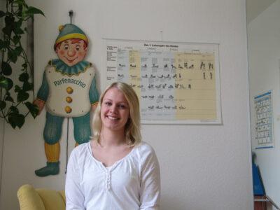 Physiotherapie-Praktikantin Jana Manegold
