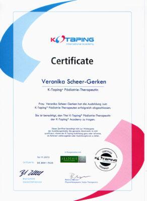 Zertifikat K-Taping